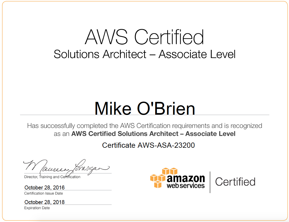AWS Certificate